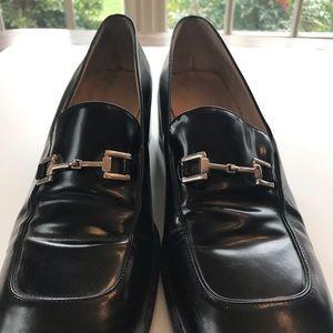 Gucci Black Horsebit 39.5C loafer pump